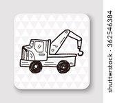 truck doodle   Shutterstock . vector #362546384