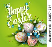 template easter card with... | Shutterstock .eps vector #362574389
