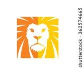 lion head   logo template | Shutterstock .eps vector #362574665