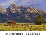 Grand Tetons Mountains With...