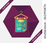 shopping sale sign flag flat...   Shutterstock .eps vector #362593874