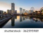 view of yokohama city at sunset ... | Shutterstock . vector #362595989