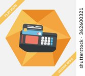 shopping credit card machine... | Shutterstock .eps vector #362600321