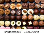 Top View Of Variety Chocolate...