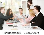 young business people... | Shutterstock . vector #362609075