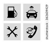 gas station  service icons set | Shutterstock .eps vector #362609429
