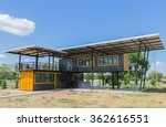 makeshift metal buildings made... | Shutterstock . vector #362616551