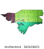map with flag of guinea bissau... | Shutterstock . vector #362618621