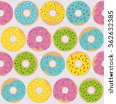 cute multicolored pattern with... | Shutterstock .eps vector #362632385
