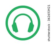 flat green headphones icon and... | Shutterstock . vector #362653421