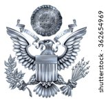 Silver Great Seal Of The Unite...