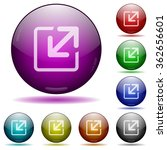 set of color resize glass...