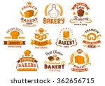 Bakery Shop Icons And...