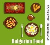 delicious dinner of bulgarian... | Shutterstock .eps vector #362656721