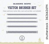marine rope style vector...   Shutterstock .eps vector #362662694