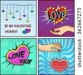 love set. comics style... | Shutterstock .eps vector #362667275