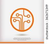 circuit board  technology icon  ... | Shutterstock .eps vector #362671349