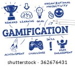 gamification. chart with... | Shutterstock .eps vector #362676431