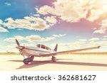 propeller plane parking at the... | Shutterstock . vector #362681627