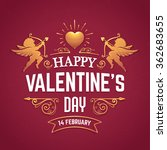 vector valentines day greeting... | Shutterstock .eps vector #362683655