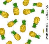 seamless pattern of  pineapple  ... | Shutterstock . vector #362683727