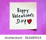 happy valentines day note | Shutterstock . vector #362685014