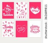 set greeting card valentines... | Shutterstock .eps vector #362689811
