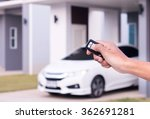hand with a car key. | Shutterstock . vector #362691281