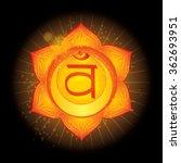 sacral chakra  svadhisthana .... | Shutterstock .eps vector #362693951
