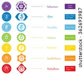 chakras icons . concept of... | Shutterstock .eps vector #362693987