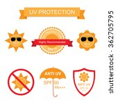 set of uv sun protection and... | Shutterstock .eps vector #362705795