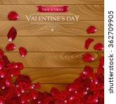 realistic rose petals on a dark ... | Shutterstock .eps vector #362709905