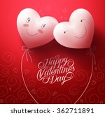 two white hearts inlove with... | Shutterstock .eps vector #362711891