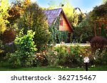 Beautiful Garden With Cottage...