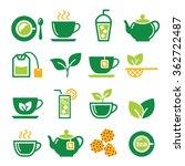 green tea and ice tea vector... | Shutterstock .eps vector #362722487