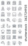 thirty two real estate icons ... | Shutterstock .eps vector #362724935