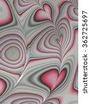 Pink Red Heart Shape Line Art...
