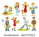 vector set of  village people... | Shutterstock .eps vector #362727011