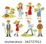 vector set of  village people... | Shutterstock .eps vector #362727011