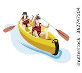 canoe kayak with two persons | Shutterstock .eps vector #362747204