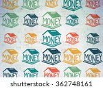 currency concept  money box... | Shutterstock . vector #362748161