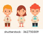 cute cartoon kids holding... | Shutterstock .eps vector #362750309