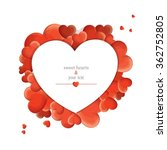 print with red hearts | Shutterstock .eps vector #362752805