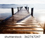 Wooden Jetty At A Little Lake...
