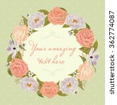 floral frame. beautiful... | Shutterstock .eps vector #362774087