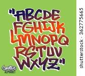 handlettering graffiti font | Shutterstock .eps vector #362775665