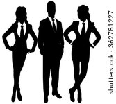 business people standing...   Shutterstock .eps vector #362781227