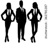 business people standing...   Shutterstock .eps vector #362781287
