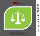 pictograph of justice scales | Shutterstock .eps vector #362781389