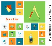 school and education icons | Shutterstock . vector #362786741